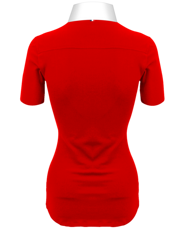 Superbe Polo Rouge Femmes Manches Courtes Polo Collector