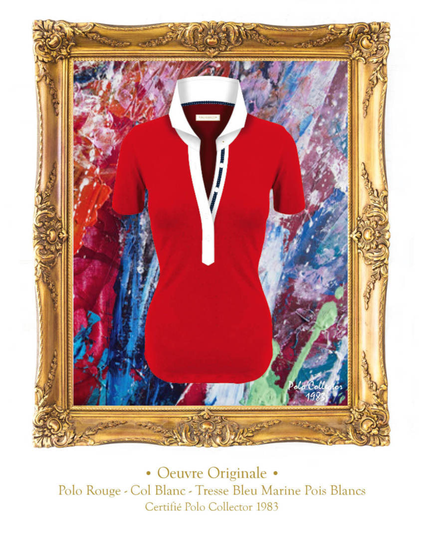 Polo Rouge manches courtes Femme Polo Collector
