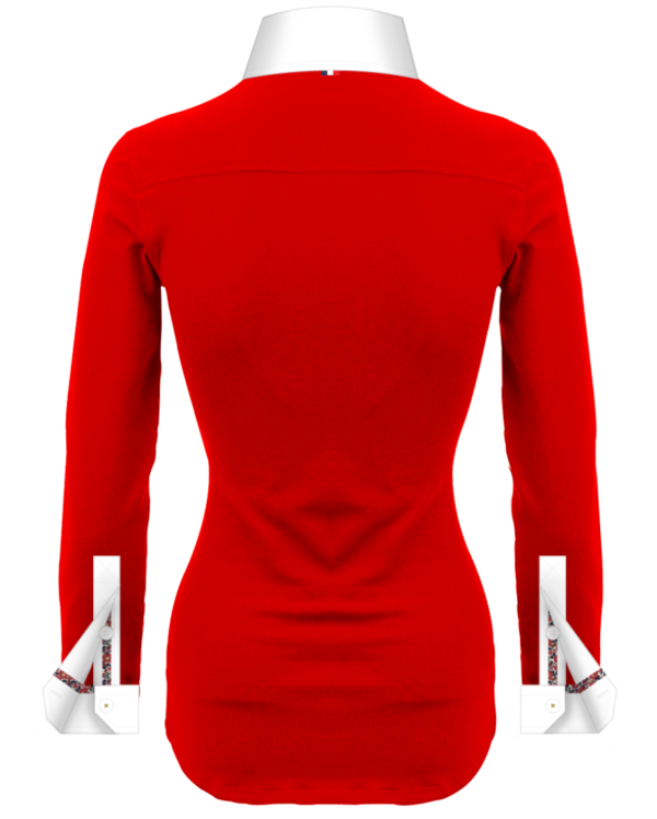Superbe Polo Rouge Femmes Manches Longues Polo Collector
