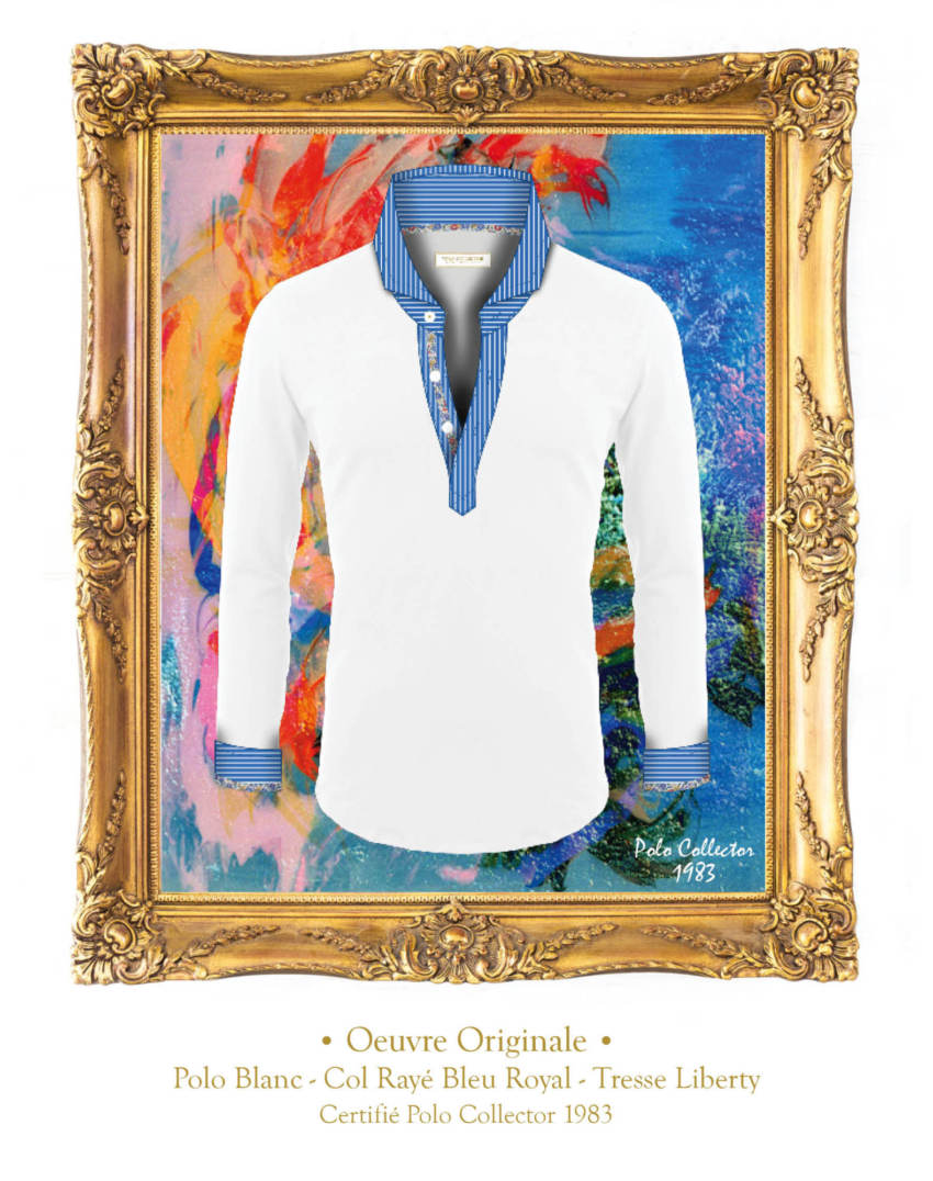 Polo Blanc manches longues Homme Polo Collector