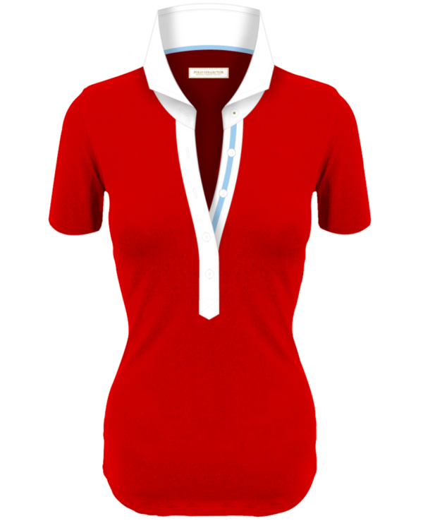 Polo Rouge Femmes Manches Courtes Polo Collector