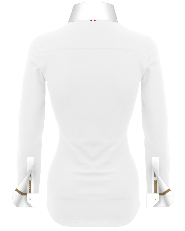 Superbe Polo Blanc Femmes Manches Longues Polo Collector