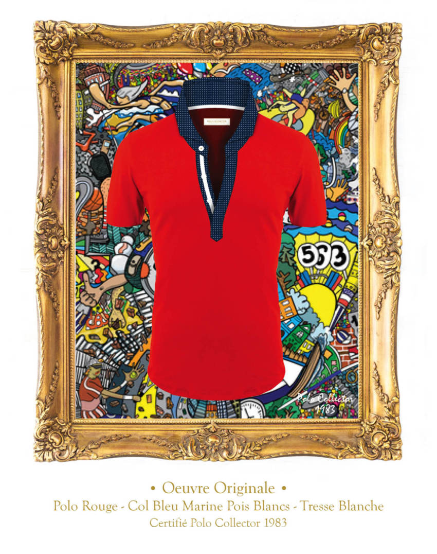 Polo Rouge manches courtes Homme Polo Collector