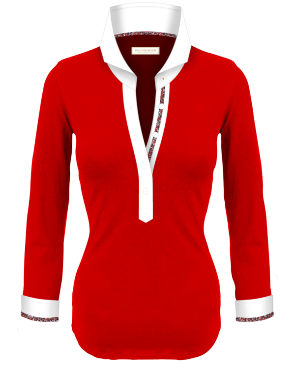 Polo Rouge Femmes Manches Longues Polo Collector