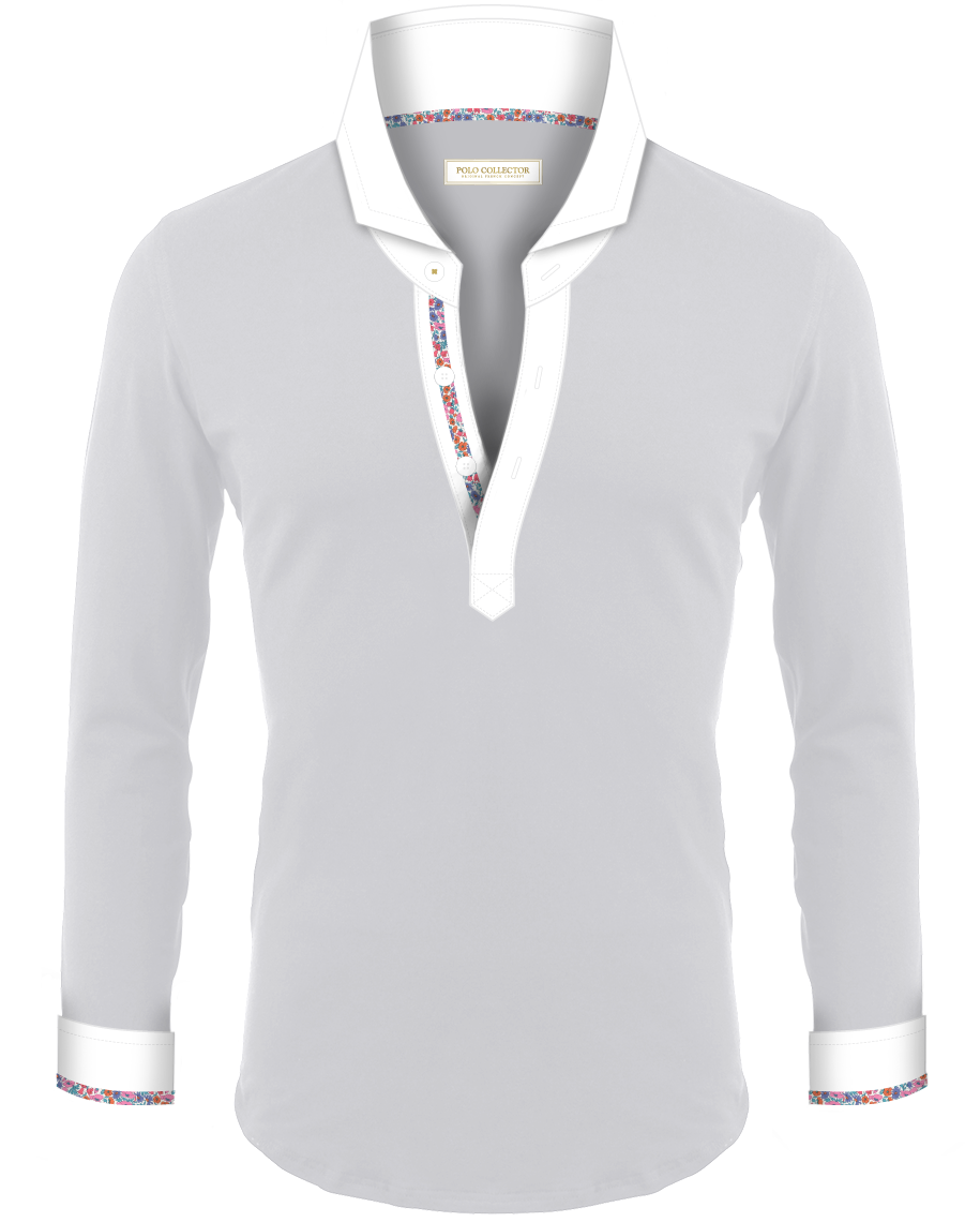 Polo Gris Clair Hommes Manches Longues Polo Collector